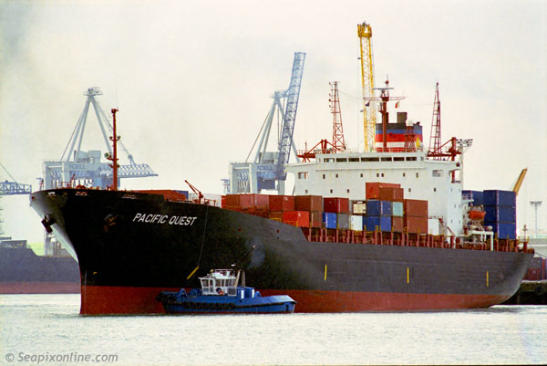 Pacific Quest, Richmond Bridge, Hyundai Portland, Maersk Rotterdam, Waka Kume, MSC Lana 8130019, 9212084 ID 678